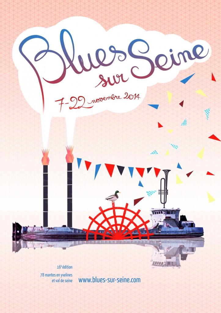 Visuel du festival Blues sur Seine 2014